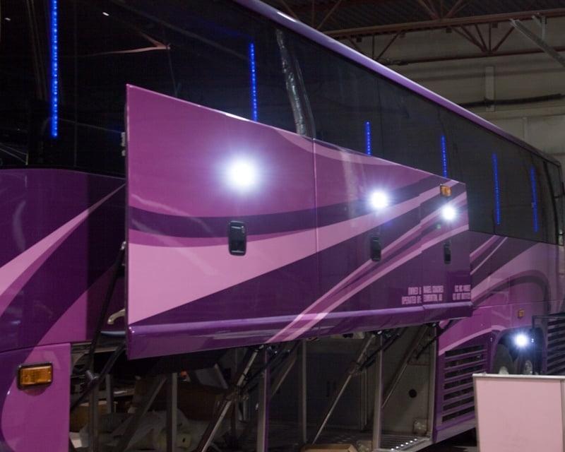 Enhanced lighting on 50 passenger Nagel Coach