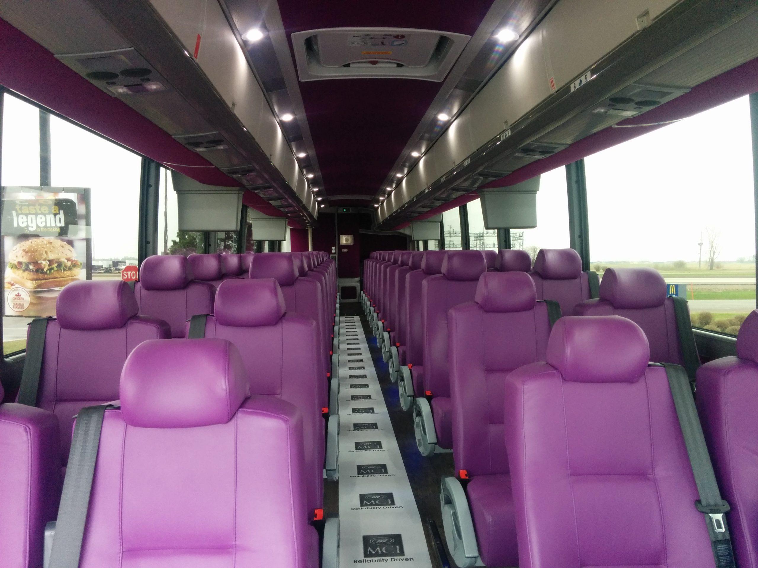 interior of 54 passenger coach