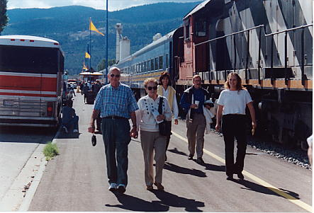Nagel Coach and people opening Okanagan Valley Wine Train